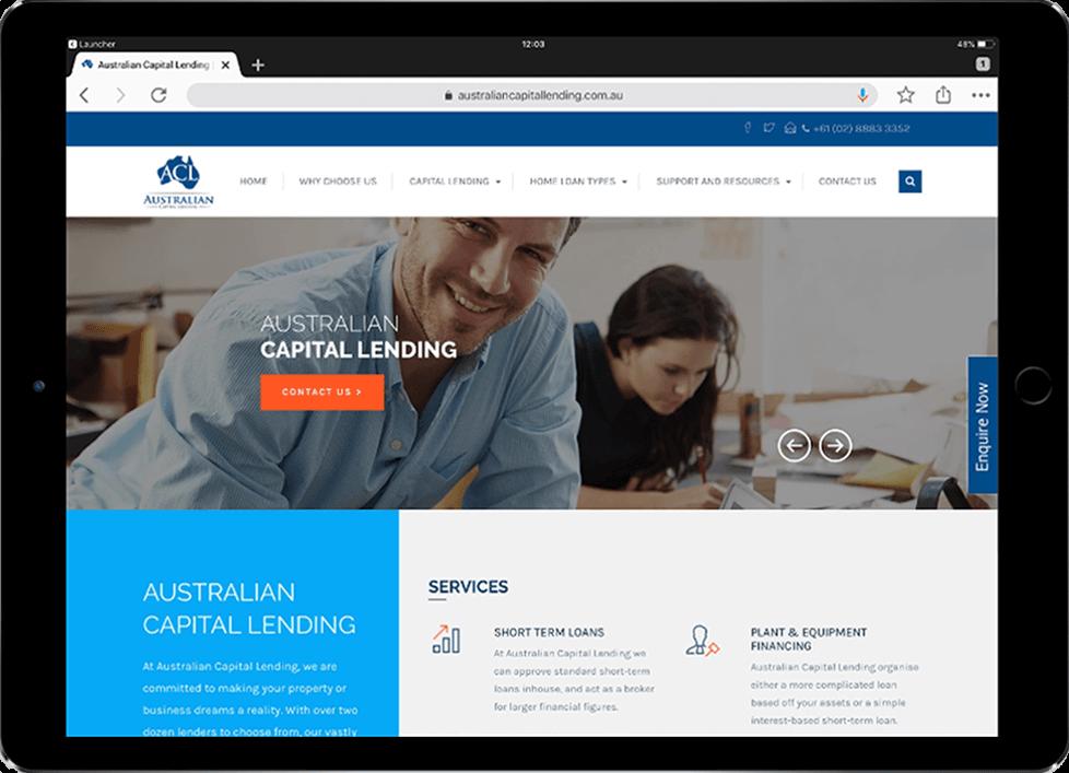 WordPress Development for Australian Capital Lending by Beedev Solutions
