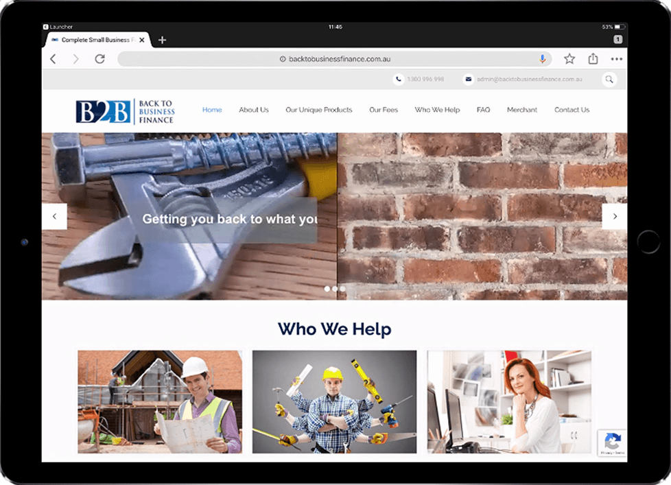 SEO Friendly WordPress for Back To Business Finance - Beedev Solutions
