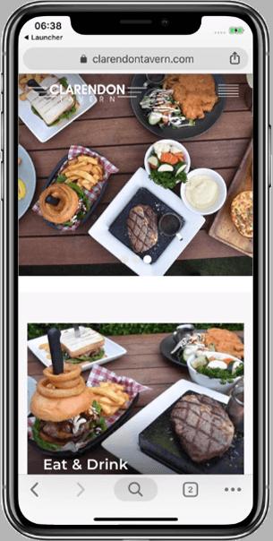 WordPress Design for Clarendon Tavern - Beedev Solutions
