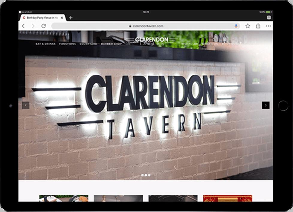 Responsive WordPress Design for Clarendon Tavern - Beedev Solutions