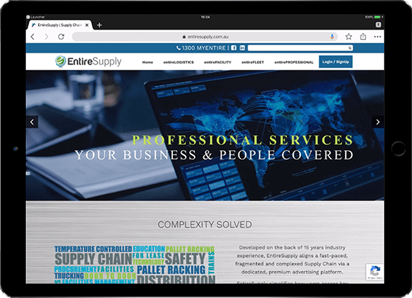 Responsive Website with CMS Implementation for EntireSupply by Beedev Solutions