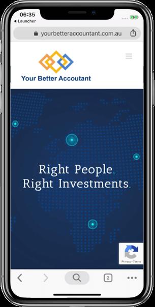 Custom Responsive Websitefor Your Better Accountant - Beedev Solutions